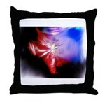 Dark Fractal Throw Pillow