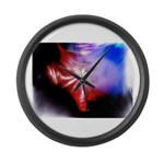 Dark Fractal Large Wall Clock