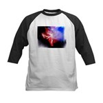 Dark Fractal Kids Baseball Jersey