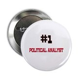 "Number 1 POLITICAL ANALYST 2.25"" Button (10 pack)"