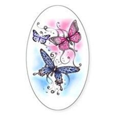 Butterfly Dreams Oval Decal