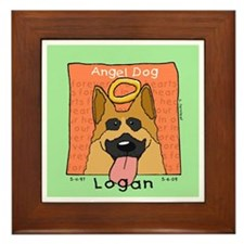 Angel German Shepherd LOGAN Framed Tile