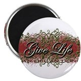 "Give Life Vine Design 2.25"" Magnet (10 pack)"