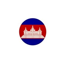Flag of Cambodia Mini Button (100 pack)