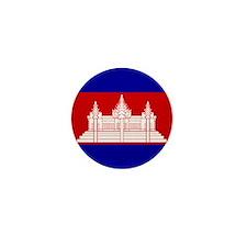 Flag of Cambodia Mini Button