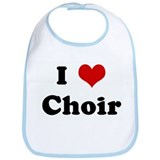 I Love Choir Bib