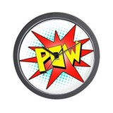 Pow, Superhero! Wall Clock