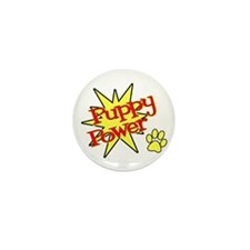 Puppy Power Mini Button