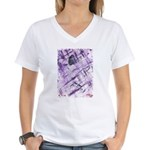 Purple Antagonism Women's V-Neck T-Shirt