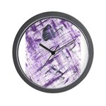 Purple Antagonism Wall Clock