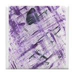 Purple Antagonism Tile Coaster