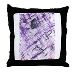 Purple Antagonism Throw Pillow