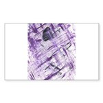 Purple Antagonism Rectangle Sticker