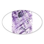 Purple Antagonism Oval Sticker