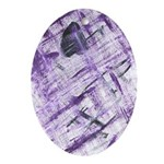 Purple Antagonism Oval Ornament