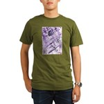 Purple Antagonism Organic Men's T-Shirt (dark)