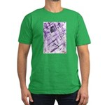 Purple Antagonism Men's Fitted T-Shirt (dark)