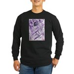 Purple Antagonism Long Sleeve Dark T-Shirt