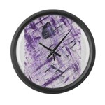 Purple Antagonism Large Wall Clock