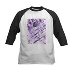 Purple Antagonism Kids Baseball Jersey