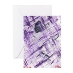 Purple Antagonism Greeting Cards (Pk of 10)