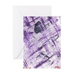 Purple Antagonism Greeting Card
