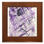 Purple Antagonism Framed Tile