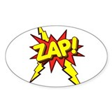 Zap! Oval Decal
