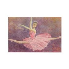 Sugar Plum Fairy Ballet Rectangle Magnet (100 pack