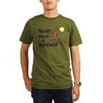 Moon A Werewolf Organic Men's T-Shirt (dark)