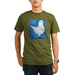White King Pigeon Organic Men's T-Shirt (dark)