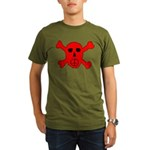 Peace Skull Organic Men's T-Shirt (dark)