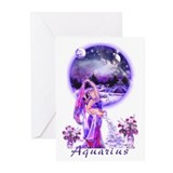 Aquarius Art Greeting Cards