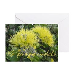 Lehua Mamo Baby Lu`au Greeting Cards (Pk of 10)