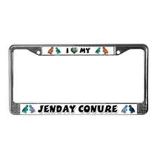 Jenday Conure License Plate Frame