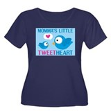 MOMMA'S LITTLE tweet HEART Women's Plus Size Scoop