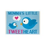 MOMMA'S LITTLE tweet HEART Rectangle Magnet (100 p