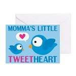 MOMMA'S LITTLE tweet HEART Greeting Cards (Pk of 1