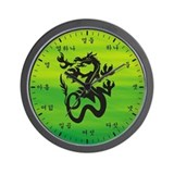 Native Korean Dragon Wall Clock