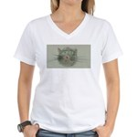 Black Cat Women's V-Neck T-Shirt