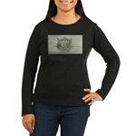 Black Cat Women's Long Sleeve Dark T-Shirt