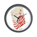 Color Retro Drive-in Popcorn Wall Clock
