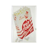 Color Retro Drive-in Popcorn Rectangle Magnet (100