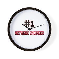 Number 1 NETWORK ENGINEER Wall Clock