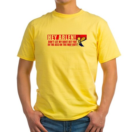 Boot In Specter's Ass Yellow T-Shirt