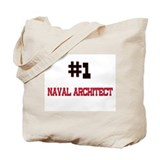 Number 1 NAVAL ARCHITECT Tote Bag