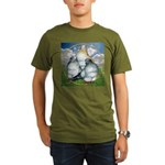 Owl Pigeons In Field Organic Men's T-Shirt (dark)