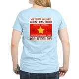 Vietnam Sucked 67 & 68 USMC Veteran Women's Pink T