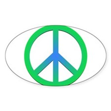 Peace! Oval Decal