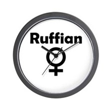 Ruffian Female Symbol Wall Clock